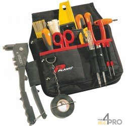 Porte outils 3 poches + fermeture zippée
