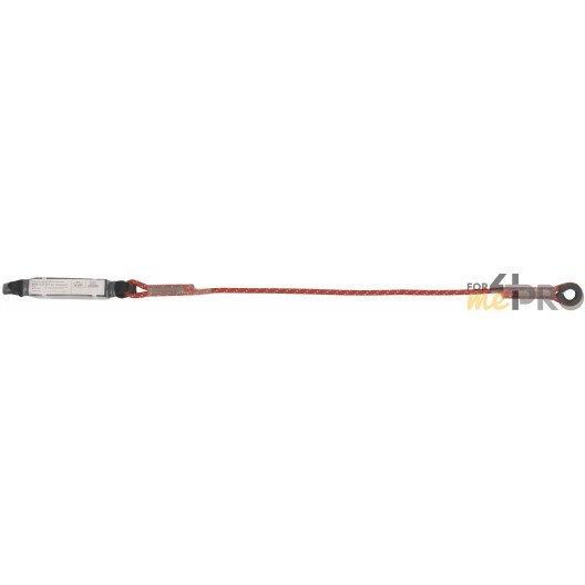 Longe en corde tressée avec drisse et absorbeur d'énergie Ø 10,5mm et 1,8 m de longueur