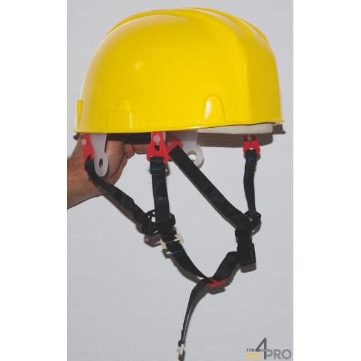 Casque de sécurité jaune avec jugulaire EN 397 - Travaux en hauteur