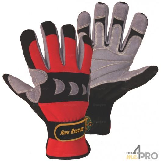 gants de protection pour travaux sur corde