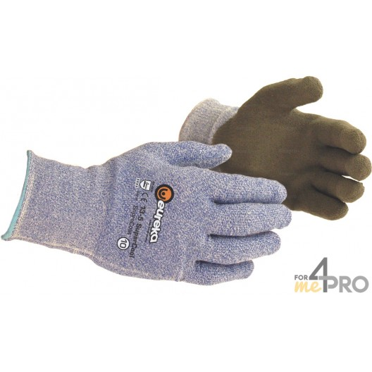 Gants anti-coupure de protection PU Nitrile Supercool Supracoat - Milieu sec - Norme EN388 - 4544 CE CAT 2
