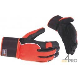 Gants anti-abrasion de protection Grip Hiver - Norme EN388 - 3122 CE CAT 2