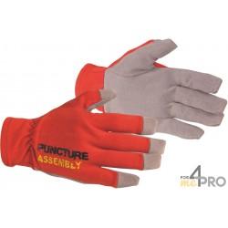 Gants anti-perforation et anti-coupure - Norme EN388 - 4543 CE CAT 2