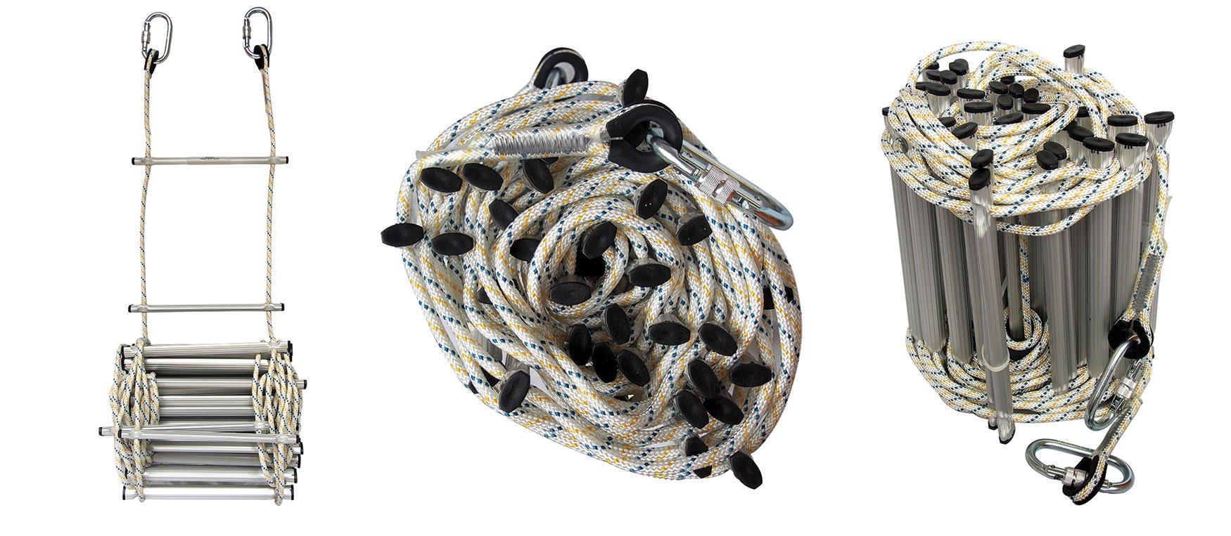 Echelles de corde et de câble